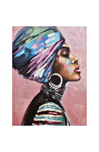 AFRICAN WOMAN ΠΙΝΑΚΑΣ 90x3.5x120Ycm OIL PAINTING