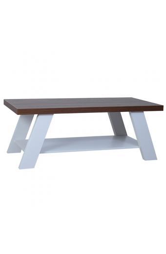 BANJI COFFEE TABLE 120x60X46Ycm ΕΠΙΦ.ΚΑΡΥΔΙ/ΛΕΥΚΑ ΠΟΔΙΑ