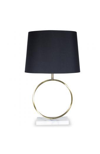 Επιτραπέζιο μεταλλικό μπρονζέ φωτιστικό PWL-0014 pakoworld μαύρο καπέλο Φ39x64εκ