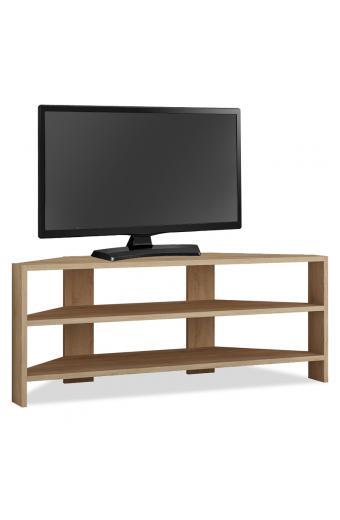 Γωνιακό έπιπλο τηλεόρασης Thales pakoworld σε φυσικό χρώμα 114x36x45εκ