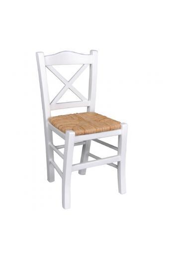 METRO Καρέκλα Εμποτισμός Λάκα Άσπρο