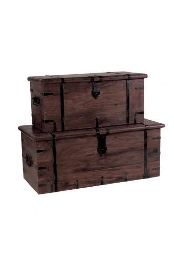 BOX Μπαούλο Καρυδί