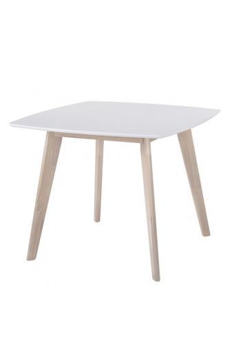 CALVIN Τραπέζι Τραπεζαρίας Κουζίνας White Wash - Άσπρο
