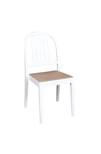 ERA Καρέκλα Στοιβαζόμενη ΡΡ Άσπρο