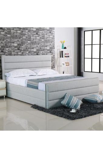 APOLLO κρεβάτι διπλό Ύφασμα Sand-Grey