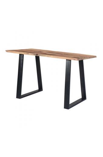 LIZARD Τραπέζι Βar Μεταλλο Βαφή Μαύρο - Ξύλο Ακακία Φυσικό