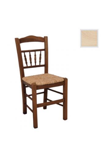 ΑΝΤΙΚΑ καρέκλα Άβαφη με Ψάθα Αβίδωτη