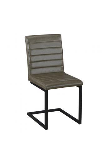 ALTO καρέκλα Μεταλ.Μαύρη/Ύφ. Vintage Green