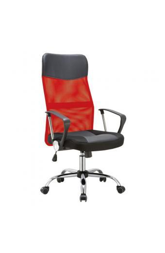 BF2400-PVC πολυθρόνα διευθυντή Pvc & Mesh Κόκκινο/Μαύρο