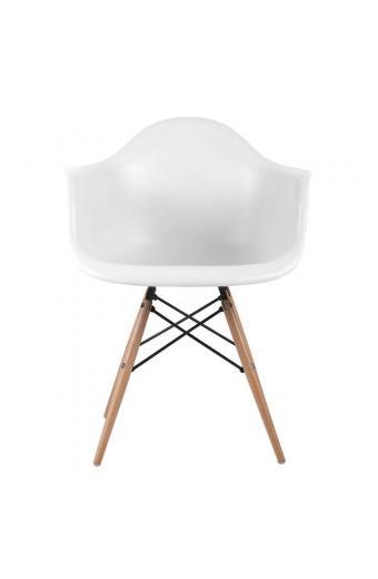 ALEA Wood πολυθρόνα Ξύλο/Πολυπροπυλένιο Άσπρο