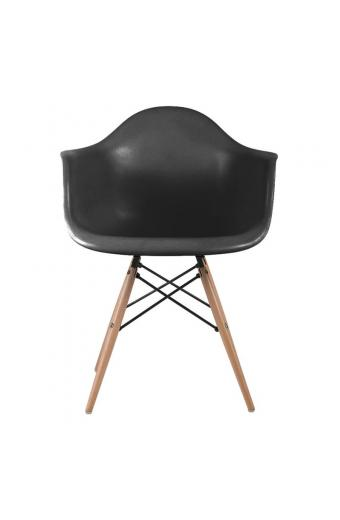 ALEA Wood πολυθρόνα Ξύλο/Πολυπροπυλένιο Μαύρο