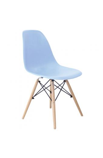 ART Wood Kαρέκλα Τραπεζαρίας Κουζίνας Ξύλο - PP Σιέλ