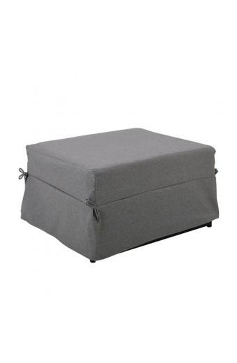 LOGAN Σκαμπό - Κρεβάτι Σαλονιού - Καθιστικού Στρώμα 7cm - Ύφασμα Γκρι