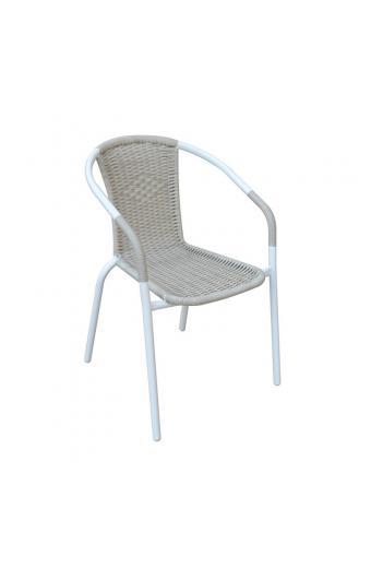 BALENO Πολυθρόνα Μεταλλική/Wicker Beige