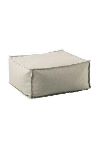 DEPO Πουφ Σκαμπώ 100% Αδιάβροχο - Ύφασμα Sand - Αποσπώμενο Κάλυμμα