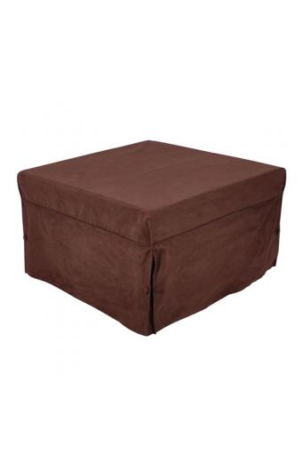 LOGAN Σκαμπό - Κρεβάτι Σαλονιού - Καθιστικού Στρώμα 7cm  Ύφασμα Σκούρο Καφέ