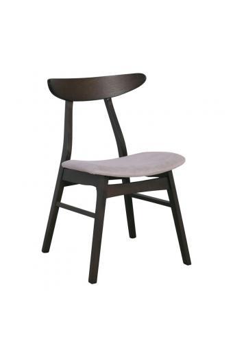 HORIZON καρέκλα Wenge/Ύφασμα Μπεζ