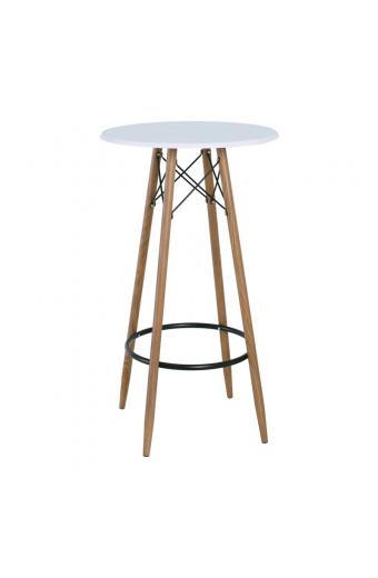 MACK Τραπέζι BAR Μέταλλο Βαφή Φυσικό - Άσπρο