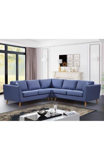 ATLANTIC  Καναπές Γωνία Ύφασμα Μπλε