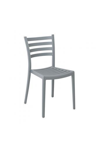 GENOA PP Καρέκλα Πολυπροπυλένιο (PP) Γκρι