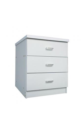 DRAWER Συρταριέρα με 3 Συρτάρια - Απόχρωση Άσπρο