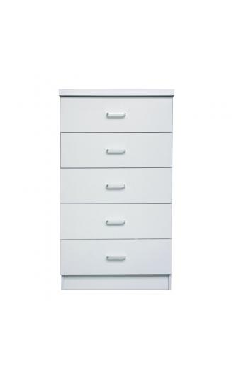 DRAWER Συρταριέρα με 5 Συρτάρια - Απόχρωση Άσπρο