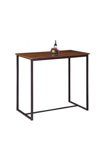 HENRY Τραπέζι BAR Μέταλλο Βαφή Σκούρο Καφέ - Καρυδί
