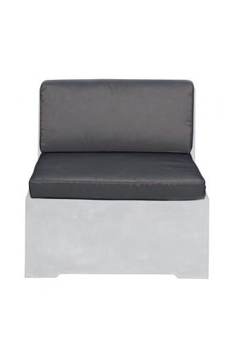 CONCRETE SetΜαξιλάρια καρέκλας Γκρι Ύφ.Water Repellent/2τεμ