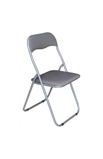 LINDA Καρέκλα Πτυσσόμενη Βαφή Γκρι - Pvc Γκρι