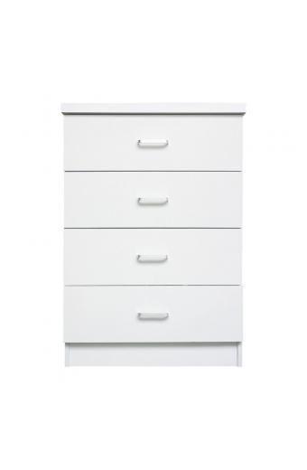 DRAWER Συρταριέρα με 4 Συρτάρια - Απόχρωση Άσπρο