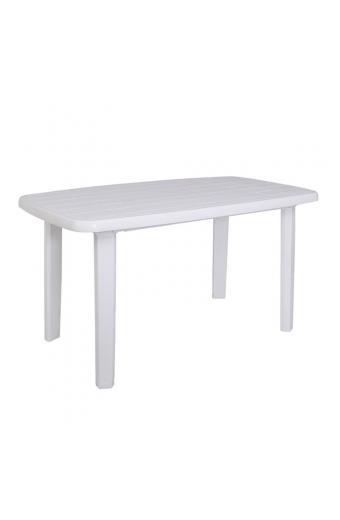 SORRENTO Τραπέζι Oval Πλαστικό Άσπρο