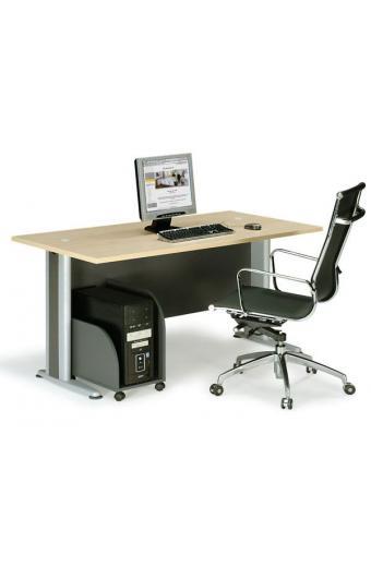 BASIC γραφείο Dark Grey/Beech