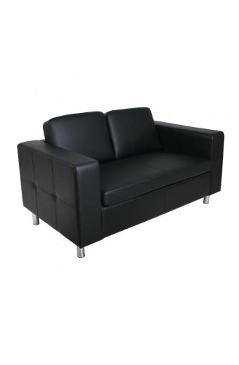ALAMO καναπές 2θέσιος PU Μαύρο