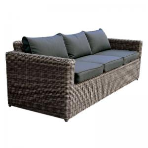ARIZONA 3θέσιος καναπές 4mmHalfRound Wicker Grey/Brown