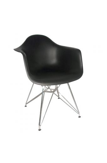 ALEA πολυθρόνα Χρώμιο/Πολυπροπυλένιο Μαύρο