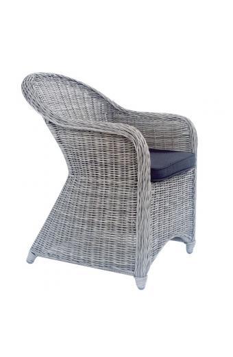 MONTANA Πολυθρόνα Φ5mm Round Wicker Grey White
