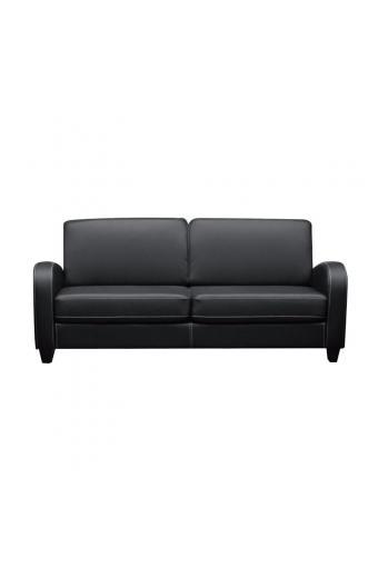 AVERO καναπές 3θέσιος PU Μαύρο