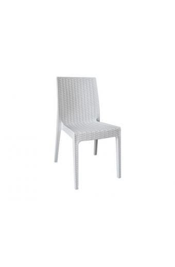 DAFNE Καρέκλα Στοιβαζόμενη PP - UV  Άσπρη