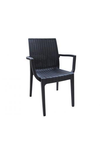 DAFNE Πολυθρόνα Στοιβαζόμενη PP - UV  Ανθρακί