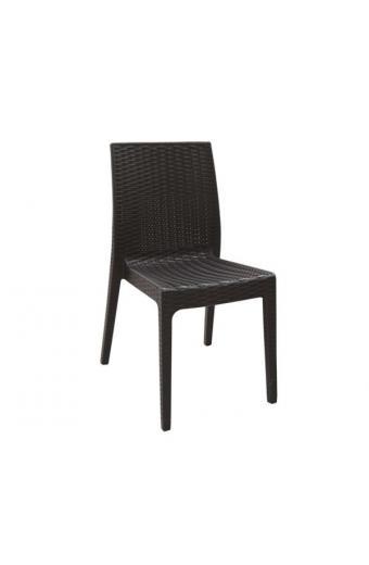 DAFNE Καρέκλα Στοιβαζόμενη PP - UV  Καφέ
