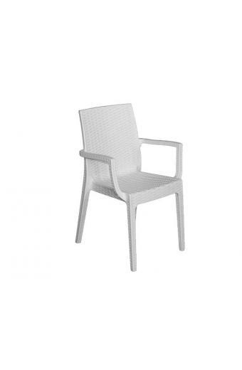 DAFNE Πολυθρόνα Στοιβαζόμενη PP - UV  Άσπρη