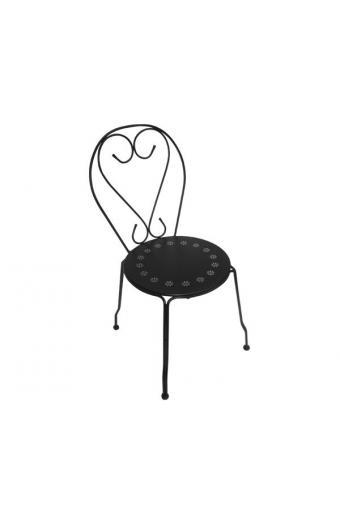 BISTRO Καρέκλα Μέταλλο Βαφή Μαύρο