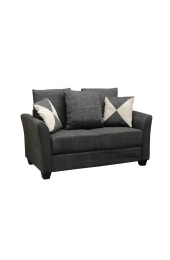 ASHLEY καναπές 2θέσιος Ύφασμα Ανθρακί