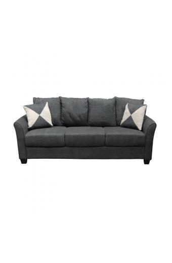 ASHLEY καναπές 3θέσιος Ύφασμα Ανθρακί