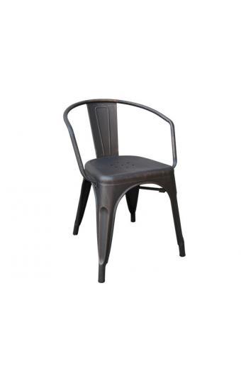 RELIX Πολυθρόνα Μέταλλο Βαφή Antique Black