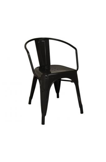RELIX Πολυθρόνα Μέταλλο Βαφή Μαύρο