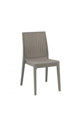 DAFNE Καρέκλα Στοιβαζόμενη PP - UV Μπεζ Tortora