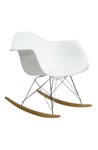 ALEA Rocky πολυθρόνα Χρώμιο/Πολυπροπυλένιο Άσπρο