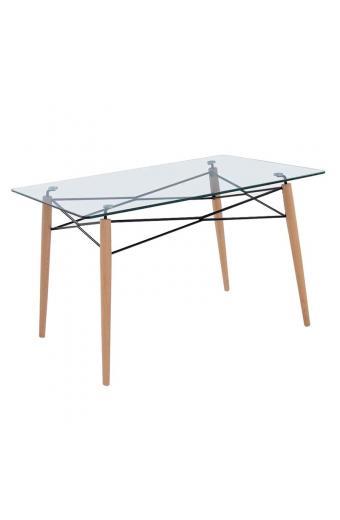 ART Wood τραπέζι Ξύλο/Γυαλί 10mm