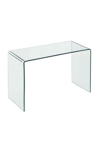 GLASSER Κονσόλα - Γραφείο Διάφανο Γυαλί 12mm